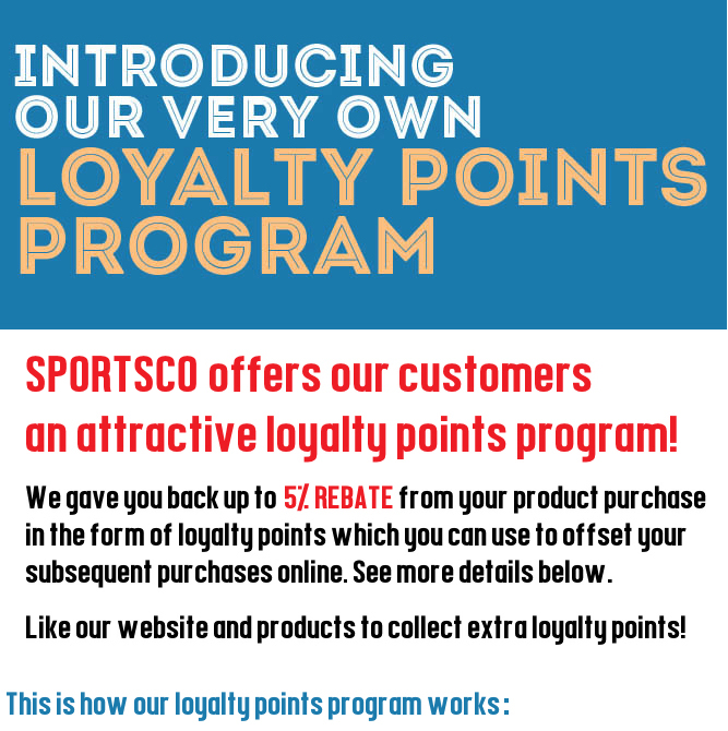 Sportsco Singapore Loyalty Points Program 5% Rebate
