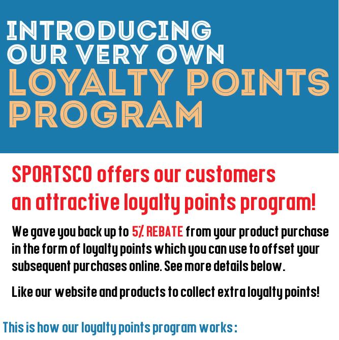 Sportsco Singapore Loyalty Points Program 5% Rebate