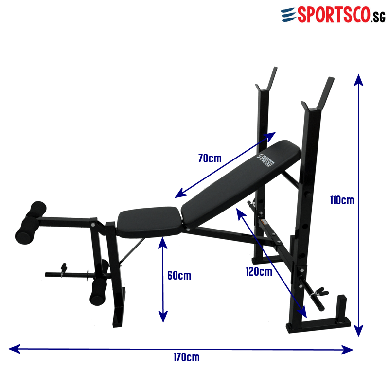 Sportsco Heavy Duty Workout Weight Lifting Bench With Barbell Rack Sg Lazada Singapore