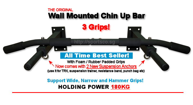 The Original Wall Mounted Chin Up Bar / Pull Up Bar from Sportsco Singapore is The BEST SELLER!
