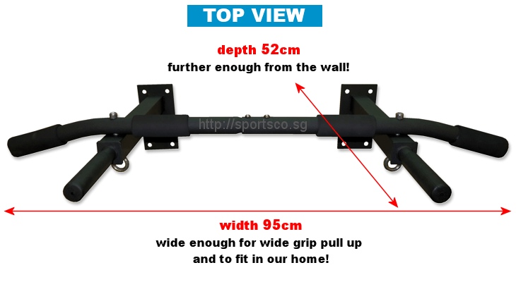 Top View - Wall Mounted Chin Up Bar Specification