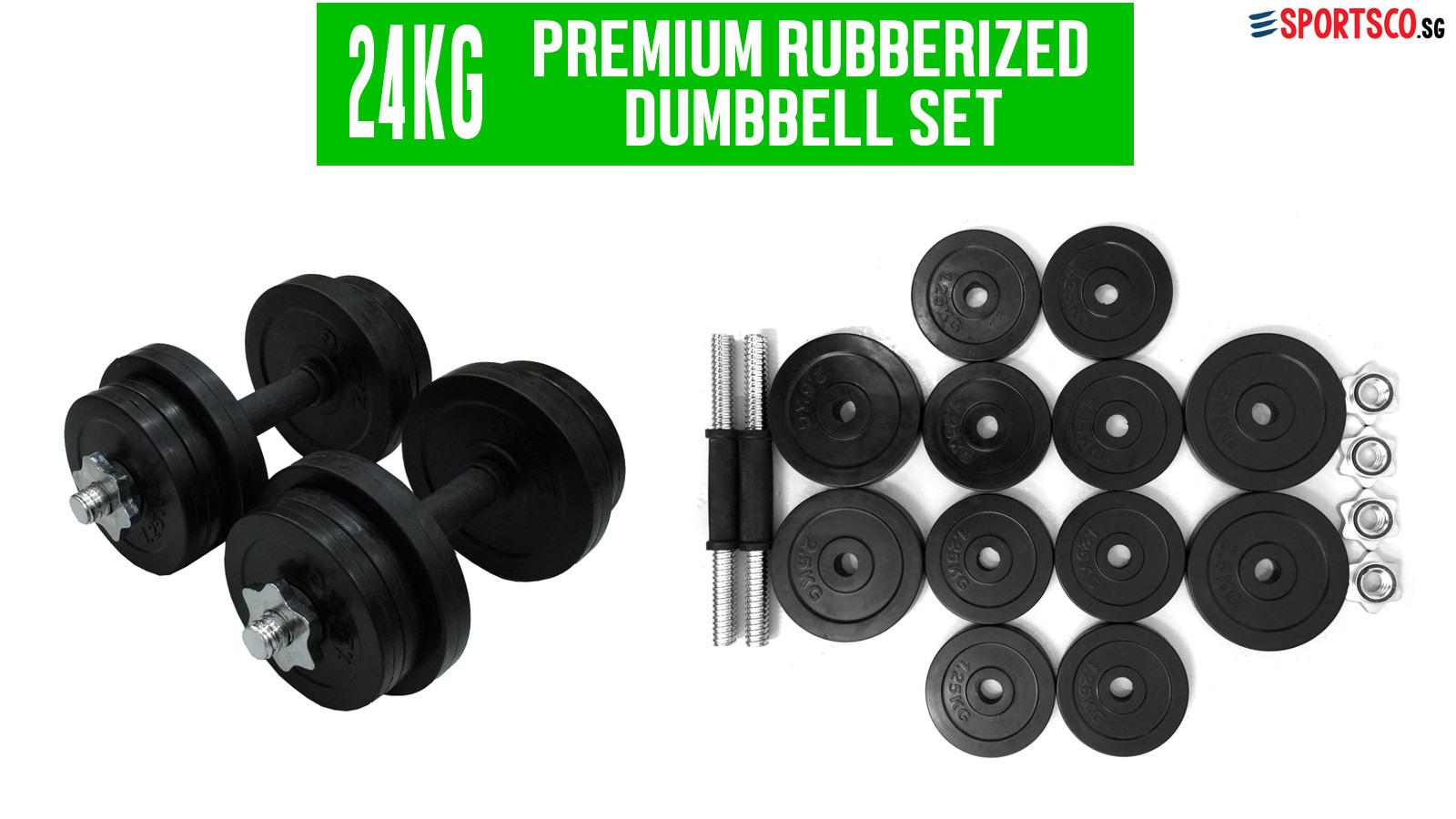 24kg Dumbbell Set