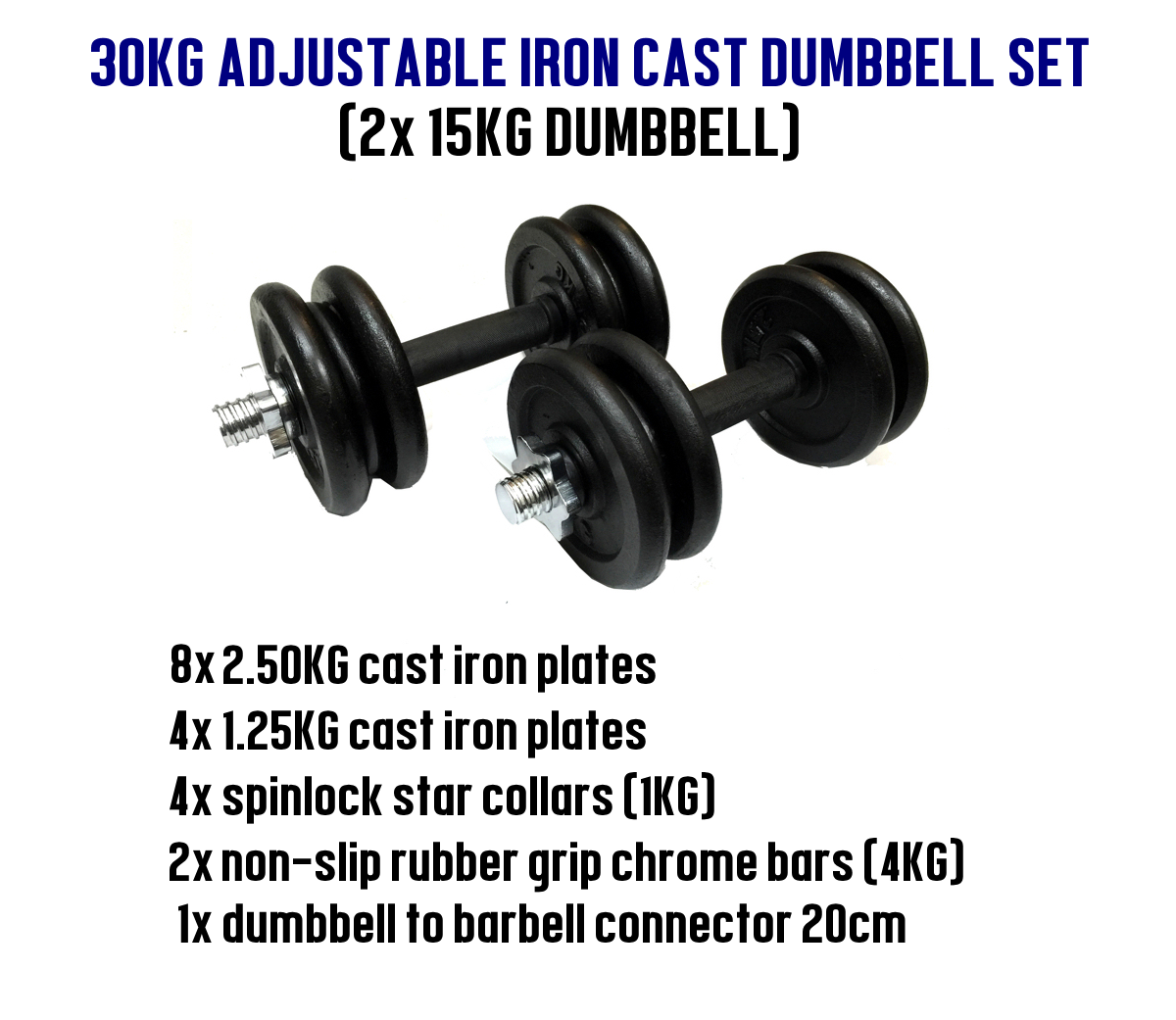 York 30kg Dumbbell Set: 30KG Premium Iron Cast Dumbbell To Barbell Set Singapore
