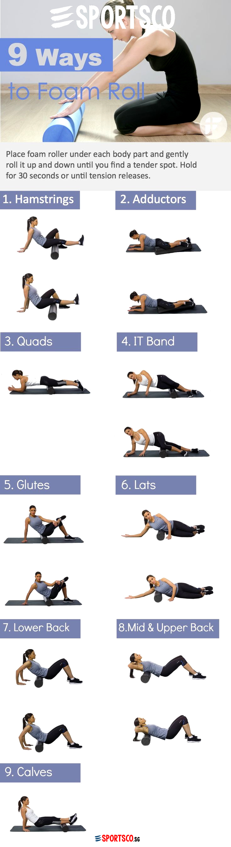 9 Ways to Use Foam Roller