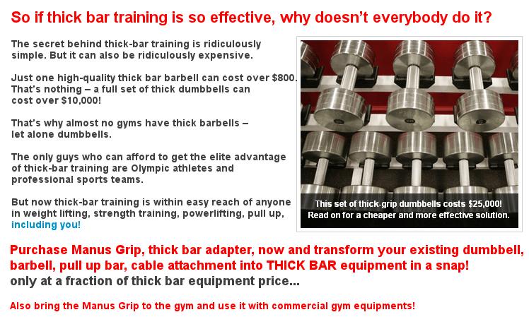 Thick bar training fact