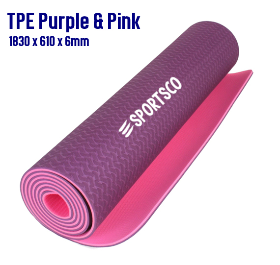 TPE Yoga Mat Purple and Pink
