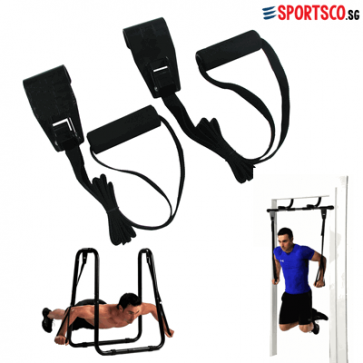 Ultimate Push Up Rings used with Pull Up Bar
