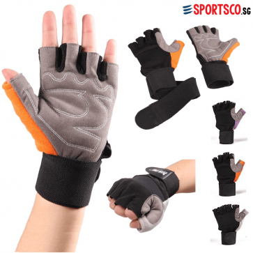 Fitness Exercise Gym Gloves with Wrist Wrap