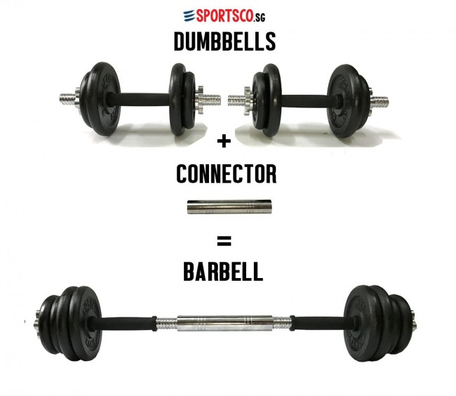 20kg Premium Iron Cast Dumbbell To Barbell Set Singapore