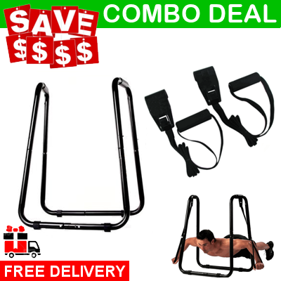 Combo Deal Ultimate Dip Bar Station And Push Up Ring