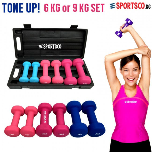 Vinyl Neoprene Dumbbell Set Singapore Sportsco