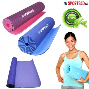 6MM TPE Yoga Exercise Mat - Dual Color